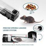 Everteco Piège à souris humain, piège à rongeurs, attrape-souris, ne tue pas, cage pour attraper une souris vivante, pièges pour attraper et libérer, piège réutilisable à rat, à écureuil (Ensemble de 2) de la marque Everteco image 4 produit