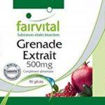 Extrait de Grenade 500mg riche en acide ellagique - 90 gélules véganes - force et énergie, riche en antioxydanes, pour les défenses immunitaires naturelles de la marque fairvital image 1 produit