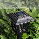 Extérieur à énergie solaire tueur Bug antiparasite sans fil Jardin Pelouse Lumière LED piège anti-moustique insectes Zapper Regard de la marque image 4 produit