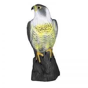 Figurine Faucon Hibou Décor Jardin Protège Jardin Effaroucher Chat Lapin Oiseau-17x17,5x41cm-Gris de la marque Générique image 0 produit