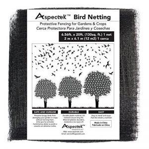 Filet Anti Oiseaux 2 X 6m - Filet Protection Contre Oiseaux pour les Jardins et les Arbres Fruitiers de la marque Aspectek image 0 produit