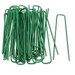 Fineway Heavy Duty Lot de 50U pins Vert gazon artificiel Gazon Piquets en métal galvanisé Agrafes Weed patères Parfait pour sécuriser tentes, feuilles de sol, auvents, objectif, filets et de bassins Filet de la marque FiNeWaY image 1 produit