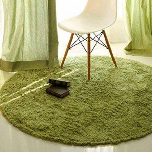 FIOFE/Tapis roulant tapis tapis fauteuil pivotant tapis table basse panier chambre (Couleur : Herbe verte, taille : Diameter 1.2m) de la marque image 0 produit