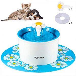 Fontaine à Fleur Automatique pour Chat , L'abreuvoir avec Fleurs de 1.6 Litres Pour chats avec 1 Tapis en Silicone 2 Marguerites 3 Filtres de Carbone (Fontaine Pour Chat) de la marque Youthink image 0 produit