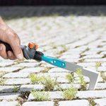 Gardena Couteau-émousseur Combisystem racloir à mauvaises herbes pour éliminer la mousse et les mauvaises herbes dans les joints, lame affûtée des deux côtés en acier inoxydable trempé (8927-20) de la marque Gardena image 1 produit