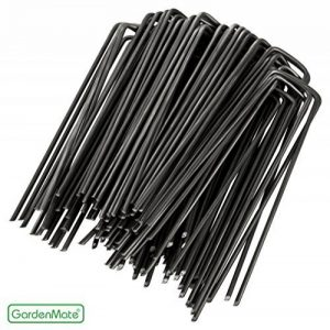 GardenMate® 100 piquets de fixation en acier 2,9 mm, 150 mm long, 25 mm large de la marque GardenMate® image 0 produit