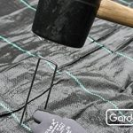 GardenMate® 100 piquets de fixation en acier 2,9 mm, 150 mm long, 25 mm large de la marque GardenMate® image 2 produit