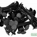 GardenMate® 100 Piquets de fixation en plastique noirs 12cm résistants aux UV de la marque GardenMate® image 2 produit