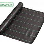 GardenMate® 1m x 50m Rouleau bâche anti-mauvaises herbes 100gms de la marque GardenMate® image 2 produit