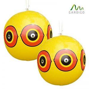 Gardigo 2 Ballons Épouvantails Effaroucheurs Anti-Pigeons, Oiseaux, Hérons, Pies, Vanneaux et Moineaux de la marque Gardigo image 0 produit