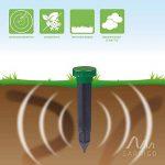 Gardigo Stop la Taupe à vibrations - Set de 2 pièces | Répulsif anti-taupes, campagnols, nuisibles - étanche de la marque Gardigo image 1 produit