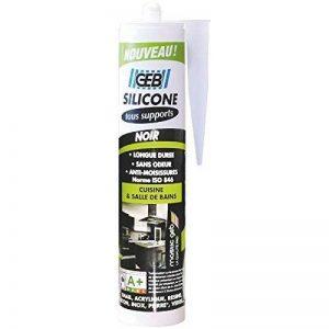 GEB 890710 Mastic silicone pour joint sur tous supports sanitaires Cartouche 280 ml Noir de la marque GEB image 0 produit
