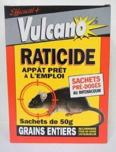 Grain de blé Raticide Souricide prêt à l'emploi Boite de 500 grs de la marque Vulcano image 0 produit