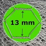 Grillage a poule casa pura® | cloture poulailler jardin voliere | galvanisé | triple torsion, maille fine hexagonal 13mm - 1m x 10m (HxL) de la marque casa pura image 3 produit