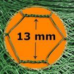 Grillage a poule casa pura® | cloture poulailler jardin voliere | vert finition PVC | triple torsion, maille fine hexagonal 13x13mm - 1m x 25m (HxL) de la marque casa pura image 3 produit