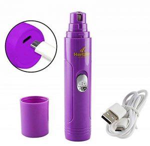 Hertzko - Lime à griffes électrique - avec câble USB - pour chien/chat/lapin/oiseau - toilettage/nettoyage en douceur - portable/rechargeable de la marque Hertzko image 0 produit