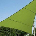 HESPERIDE Toile Solaire Voile d'ombrage Triangulaire 3 x 3 x 3 m en Tissu Déperlant - Coloris Vert de la marque HESPERIDE image 2 produit