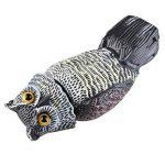 Hibou anti pigeons/ anti-oiseaux.Hibou Extrême Réaliste Tête Rotative ideal pour éloigner les oiseaux de jardin et ferme 16*15*36CM de la marque JOYEUX image 2 produit