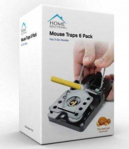 Home Solutions™ Mouse Trap Pack de 6 Kill Mice Catcher, pièges à contrôle réutilisables faciles à régler de la marque Home Solutions™ image 0 produit