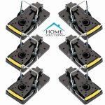Home Solutions™ Mouse Trap Pack de 6 Kill Mice Catcher, pièges à contrôle réutilisables faciles à régler de la marque Home Solutions™ image 1 produit