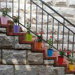 Homelover Lot de 6pots de fleurs en métal, pots de fleurs à suspendre seaux Pot de fleurs avec crochet amovible pour balcon Home Décor de jardin, grande taille, couleur aléatoire 6Pack de la marque image 3 produit