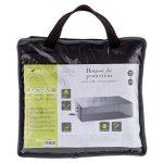 Housse de table rectangulaire S - 185 x 125 x 80 cm - Polyester - Gris de la marque HESPERIDE image 1 produit