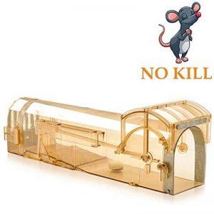 Humane Mouse Trap, 32 cm Souris intelligente et Piège à rongeurs, Cage à cage humaine Facile à installer et sans tuer les souris, Pièges à rats vivants pour usage intérieur et extérieur, Animaux et enfants Piège à souris convivial Fonctionne pour petite e image 0 produit
