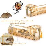Humane Mouse Trap, 32 cm Souris intelligente et Piège à rongeurs, Cage à cage humaine Facile à installer et sans tuer les souris, Pièges à rats vivants pour usage intérieur et extérieur, Animaux et enfants Piège à souris convivial Fonctionne pour petite e image 3 produit
