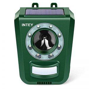 INTEY Répulsif Chat Ultrason Solaire Repulsif Chat Exterieur Sensibilité et Fréquence Réglable Ultrason Chat pour Repousser Animaux Nuisibles Protecteur de Jardin - 2018 Version de la marque INTEY image 0 produit