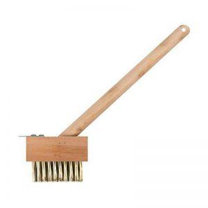Invero Brosse en bois à poils métalliques, idéale pour le désherbage de terrasses et patios de la marque Invero® image 0 produit