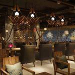 L'éclairage de corde de chanvre industriel vent rétro, lustre Cage à oiseaux Diamond Bar Restaurant les filets de lumières card e27 Eclairage intérieur (taille: 35*37 cm). de la marque FGGR GERGRE image 2 produit