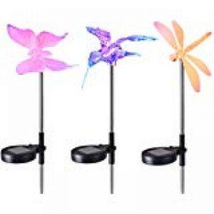 Lampe Solaire Jardin, OxyLED Eclairage Extérieur sans Fil, Lumière Solaire de Patio en Forme de Libellules/ Colibris/ Papillons,3 Pack, GL-01 de la marque OxyLED image 0 produit