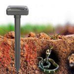 Ledgle Lot de 2 Répulsif Solaire à Ultrason Anti Serpents, Souris Repeller Etanche IP44 pour Repousser les Animaux Nuisibles Protecteur de Jardin de la marque Ledgle image 4 produit