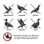 Leegoal Lot de 4Bird Répulsif Scare Bird chouettes, Bird Blinder réfléchissant à suspendre chouette, holographique réfléchissant Pic dissuasif pour maison, jardin, Verger, serre, Rhombus de la marque Leegoal image 4 produit