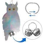 Lembeauty 2pcs réfléchissant à suspendre Bird Scare Faux en forme de hibou Bird Répulsif appareil dissuasif kit Type_A de la marque Lembeauty image 1 produit