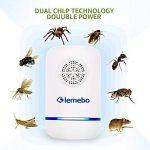 Lemebo Répulsif Electronique Ultrason Plug en Pest Reject pour moustiques,souris, fourmis,filtres Raw,araignées,mouches,insectes,lézards,non toxique, respectueux de l'environnement, humains (Blanc) de la marque Lemebo image 1 produit