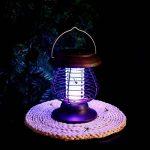 Longra Énergie solaire Lampes de tueur de moustique Lampe portative de moustique électrique Lampe UV Tue-Mouches Destructeur d' Insectes Electrique Tue Mouche Electrique Lampe Insecte (Marron) de la marque Longra Home image 4 produit