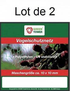 Lot de 2 Filets Anti-Oiseaux pour Cerisiers 8X8M de la marque GREEN TOWER image 0 produit