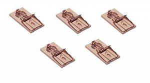 Lot de 5 Pièges à souris, Tapette à souris efficace et puissant en bois réutilisable de la marque Artecsis image 0 produit
