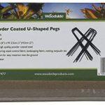 Lot de 50 piquets en forme de « U » - pour le jardin/la fixation du gazon artificiel - acier avec application de peinture en poudre de la marque Woodside image 2 produit