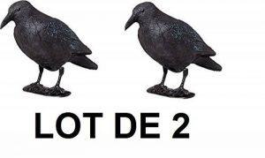 Lot de deux Brema Figurine De Jardin | 2x Corbeau Anti-Pigeon Et De Décoration | Noir | Figurine En Plastique de la marque Unimet image 0 produit
