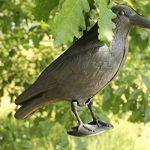Lot de deux Brema Figurine De Jardin | 2x Corbeau Anti-Pigeon Et De Décoration | Noir | Figurine En Plastique de la marque Unimet image 2 produit