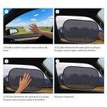 Macrourt 4PCS Pare-Soleil Voiture, Paresol de Fenêtres de Voiture pour Bébes Enfants et Animaux, Anti Les Rayons UV pour la Plupart de Voitures de la marque Macrourt image 4 produit