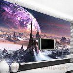 Malilove 3D Stéréoscopique Personnalisé Fond D'Univers Fantastique Star Sky 3D Montagnes Papier Toile Murale Tv Papel De Parede Para Quarto400X280CM de la marque Malilove image 1 produit