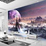 Malilove 3D Stéréoscopique Personnalisé Fond D'Univers Fantastique Star Sky 3D Montagnes Papier Toile Murale Tv Papel De Parede Para Quarto400X280CM de la marque Malilove image 2 produit