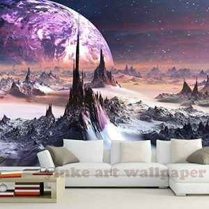 Malilove 3D Stéréoscopique Personnalisé Fond D'Univers Fantastique Star Sky 3D Montagnes Papier Toile Murale Tv Papel De Parede Para Quarto400X280CM de la marque Malilove image 0 produit