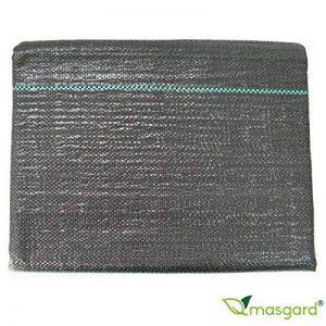 Masgard® Ruban adhésif 100g/m² Fond Tissu anti-mauvaises herbes de différentes dimensions haute stabilisation des UV 1,00 m x 10,00 m = 10 m² (gefaltet) Noir de la marque Masgard® image 0 produit