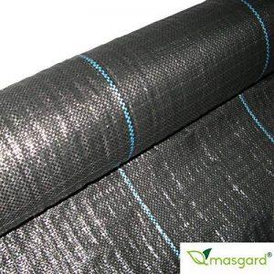 Masgard® Ruban adhésif 100g/m² Fond Tissu anti-mauvaises herbes de différentes dimensions haute stabilisation des UV 1,00 m x 20,00 m = 20 m² (gefaltet) Noir de la marque Masgard® image 0 produit