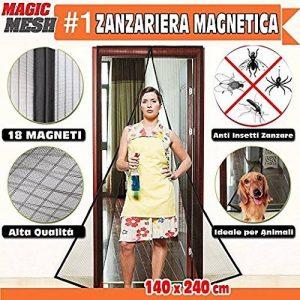 Moustiquaire magnétique porte fenêtre Fermeture aimants aimant magnétique anti moustiques Rideau 240x 140cm couleur noire de la marque 21 STORE® image 0 produit