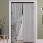 Moustiquaire magnétique porte fenêtre Fermeture aimants aimant magnétique anti moustiques Rideau 240x 140cm couleur noire de la marque 21 STORE® image 4 produit
